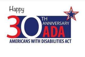 Tina Pedersen & Congressman Langevin, Michael Matracia & Alyssa Gleason on the ADA 30th Anniversary